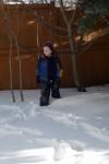Peter in de sneeuw