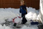 We bouwen een sneeuwfort