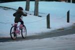 Eline op haar nieuwe fiets