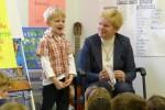Peter wordt toegezongen op school