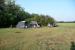 Onze kampeerplek