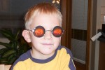 Peter met pompoenen bril